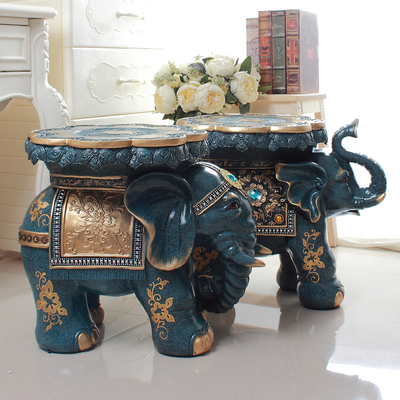 Creative elephant stool shoe-changing stool European-style living room hotel club house lucky decoration home decoration gifts