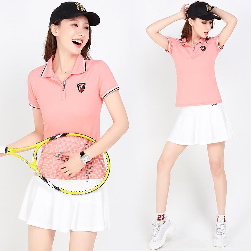 网球裙运动裤裙女春夏2021新款时尚休闲羽毛球服套装女团体运动裙