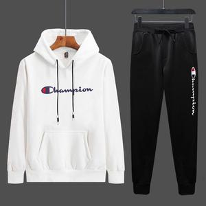 2019秋季新款时尚两件套男士休闲运动服套装男式卫衣学生青年百搭