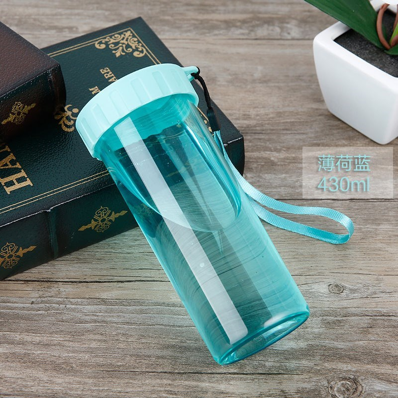 Drinking water cup women fashion work sports pregnant women students plastic fitness simple Korean portable cup L