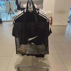 現貨nk網格網紗定制購物袋運動戶外健身街頭手拎包環保袋大容量