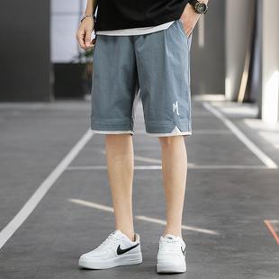 短裤男士夏季薄款潮流大裤衩五分裤子宽松外穿七分裤休闲沙滩中裤