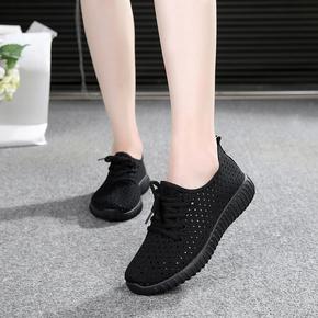 老北京布鞋女夏网面女鞋正宗运动休闲镂空上班透气网鞋夏季工作鞋