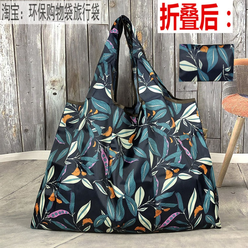 Large size mummy shopping bag environmental protection handbag supermarket shopping bag lightweight portable foldable storage bag single shoulder