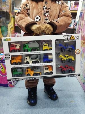 2021竹q海金澜城市建设者儿童惯性车盒装工程车组合12车模男孩玩