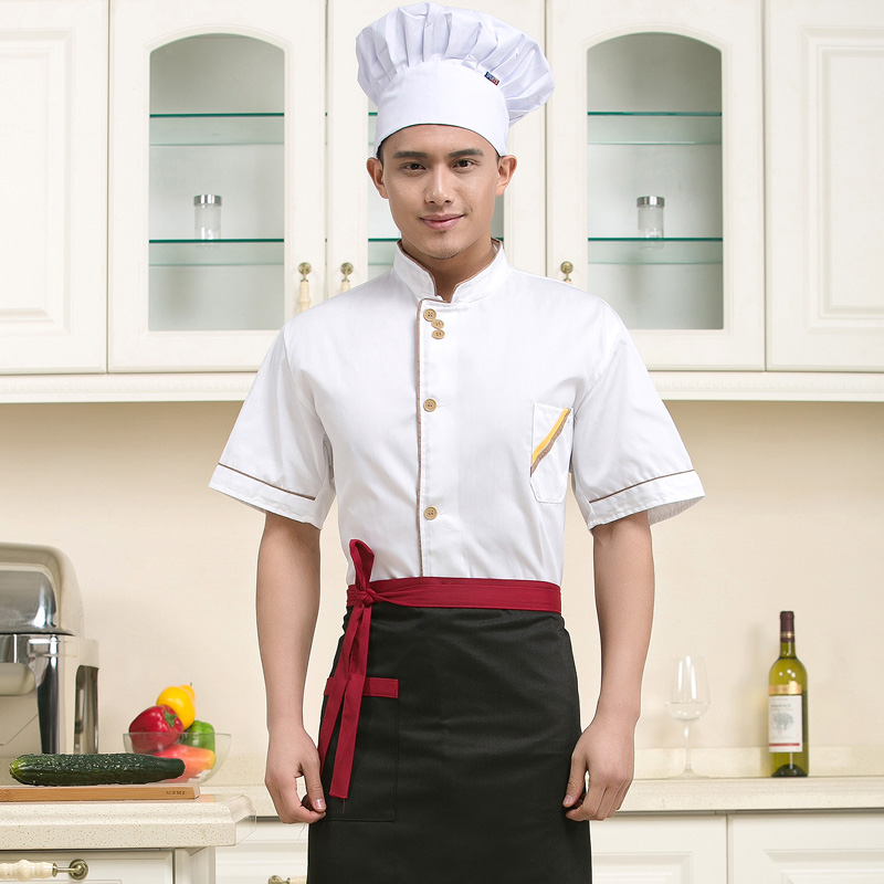 Summer short sleeve chefs clothes cake shop work clothes pastry masters uniform Bakers work clothes Bakers clothes Bakers clothes