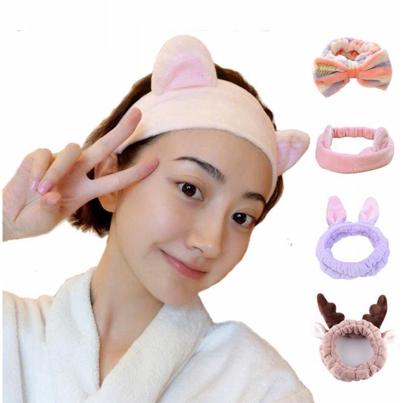 可爱洗脸束发带韩版发箍发饰头套猫耳朵发套化妆敷面膜美容头巾女