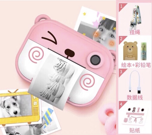 Childrens camera digital toy photo printable cartoon student SLR mini portable