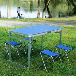 折叠桌摆摊户外地推桌家用可简易饭餐桌椅便捷促销租房小桌子折叠
