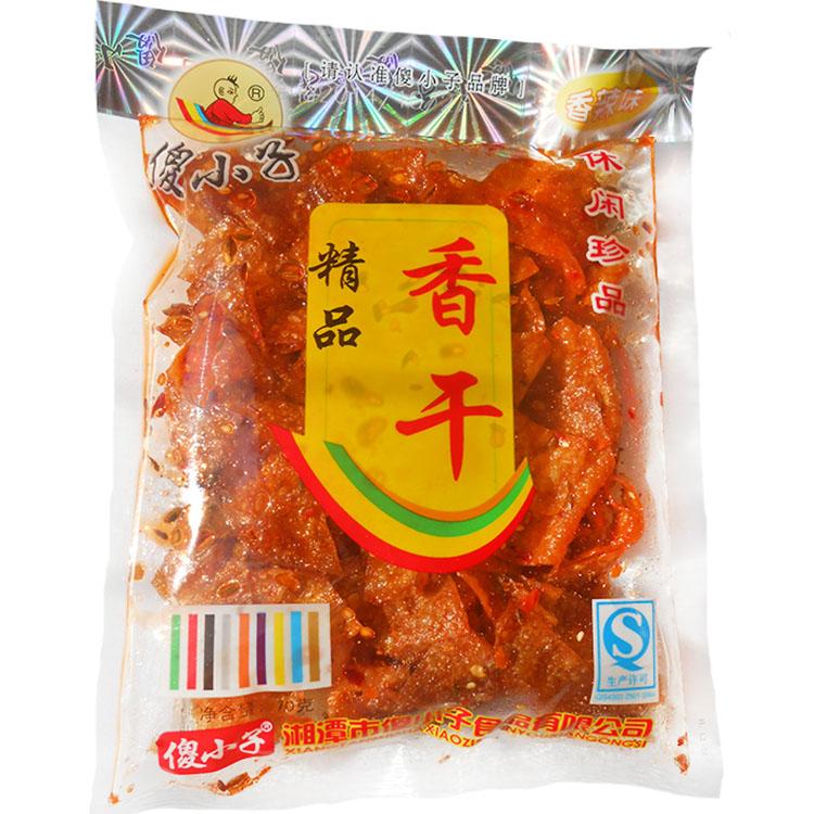 湖南特产傻小子香干麻辣豆皮70g精品香干五香卤汁豆干金珍卷零食