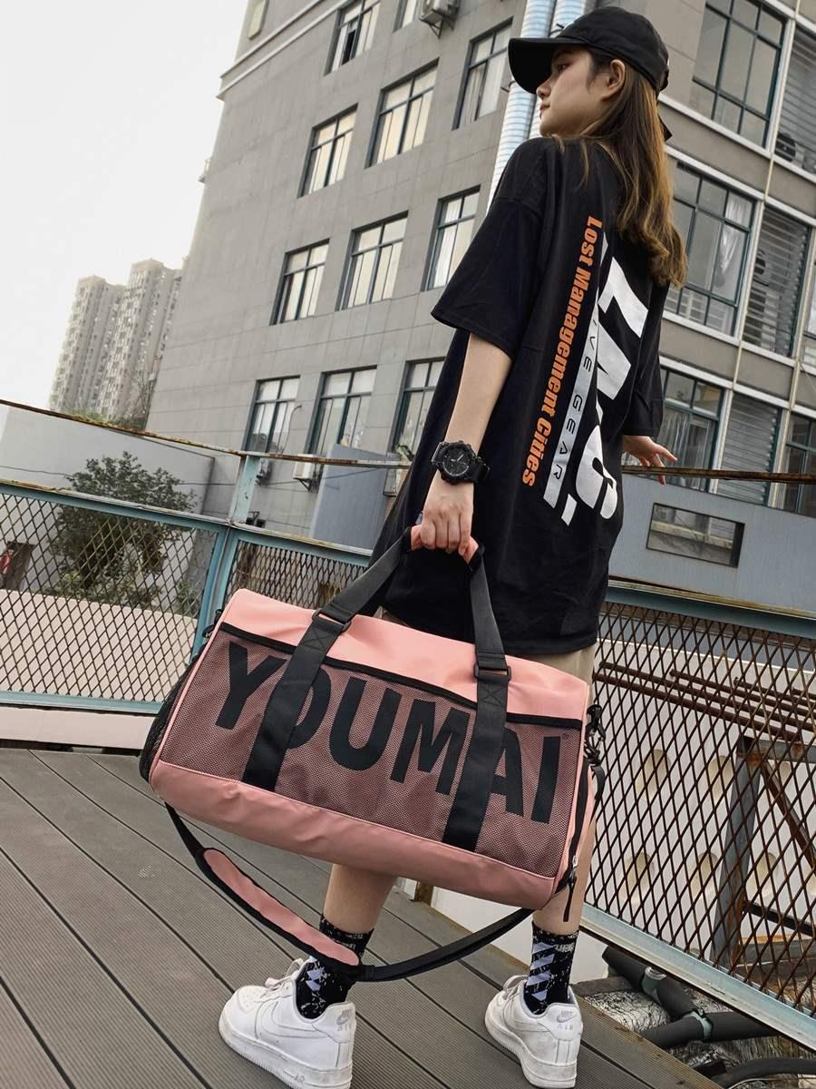 Short distance travel bag female large capacity light student portable sports fitness bag male business luggage bag travel bag tide
