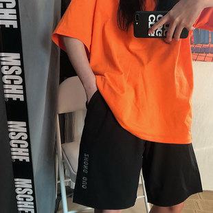 韓國INS夏季原宿日系韓版個性韓版百搭休閒短褲男女情侶款潮流