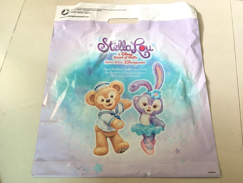 香港迪士尼正品 达菲熊塑料购物袋