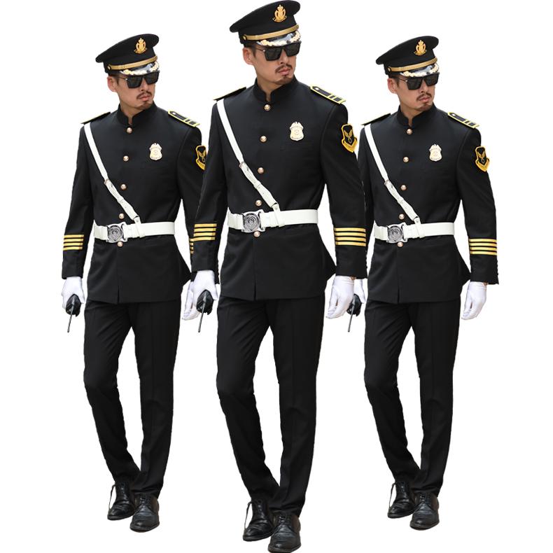售楼部保安服案场礼宾形象岗写字楼高级长袖春秋物业安保制服套装图片