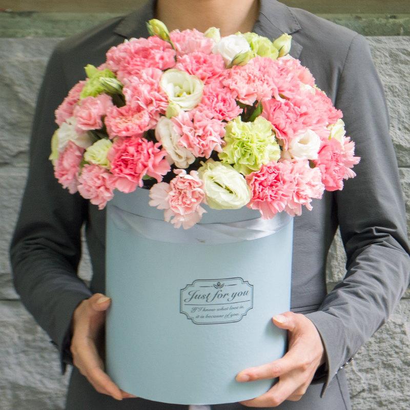 兰州玫瑰花生日抱抱桶鲜花速递同城中山贵阳温州哈尔滨表报送花店