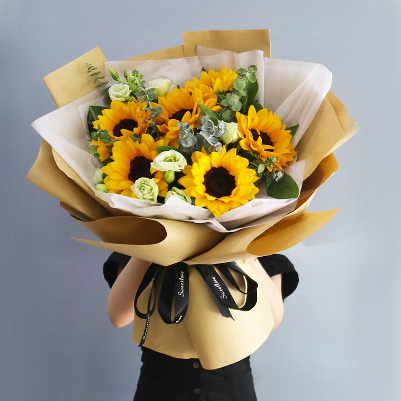 情人节洛阳鲜花速递同城向日葵毕业花束礼盒西工涧西老城送老师花