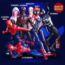 促销中动漫威正版超凡蜘蛛侠平行宇宙毒液屠杀手办模型玩具人偶摆图片