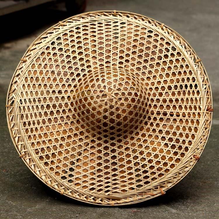 斗笠古风 遮阳编织渔夫帽手工艺竹编特大号地方特色舞台竹子加厚