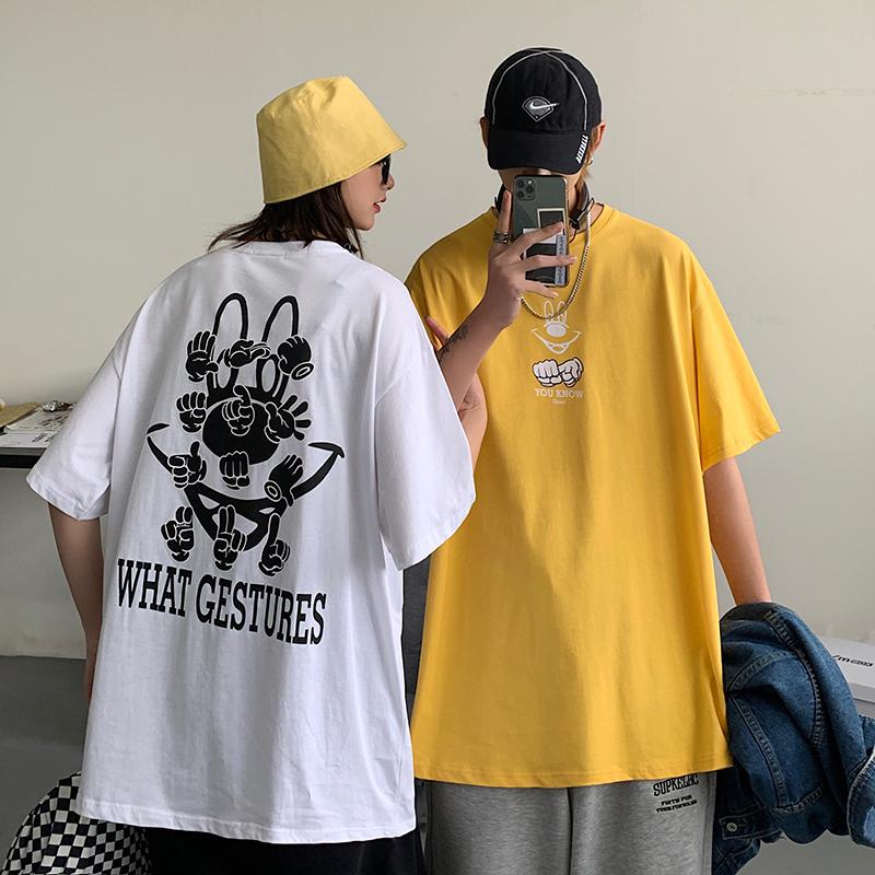 白糖玫瑰店铺苏菲家潮人馆小谷子原创爱的国度情侣装休闲短袖T恤图片