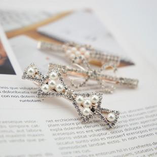 大韩版满钻小鸭夹精致卡带全新四个边爱心珍珠兔子其它首饰