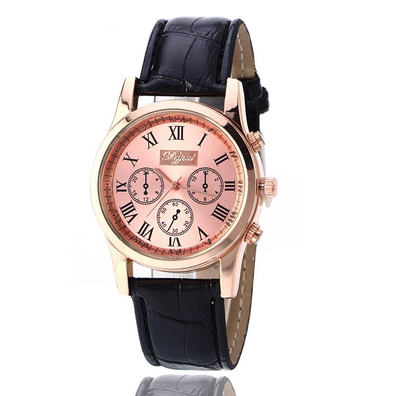 519带马日历手表创意时尚简约学生全新棕石英休闲方形银针扣硅胶