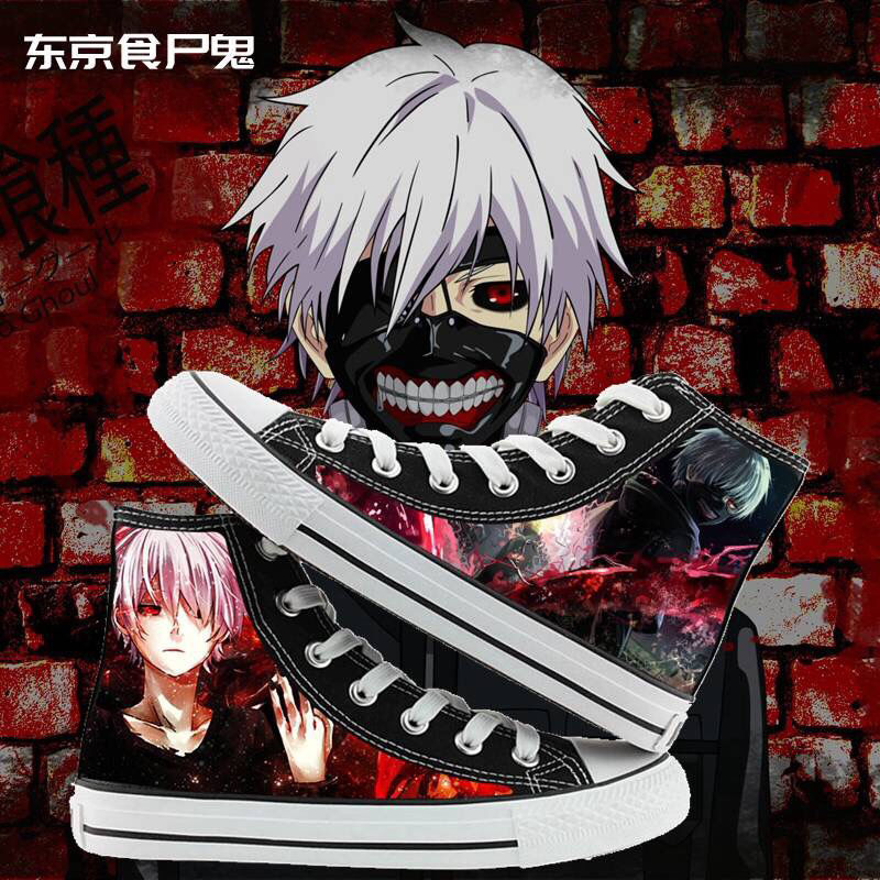Tokyo Ghoul gaobang boys and girls canvas shoes anime peripheral graffiti casual shoes