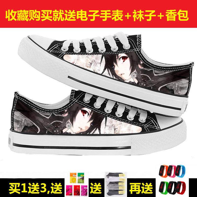 Sword Shenyu animation low help schoolboy Girl College Style Hand Painted printing customizable board shoes leisure