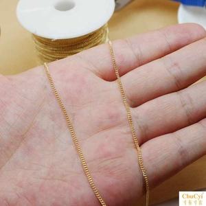 14k包金马鞭型散链条手链项链制作diy手工饰品材料串珠链子