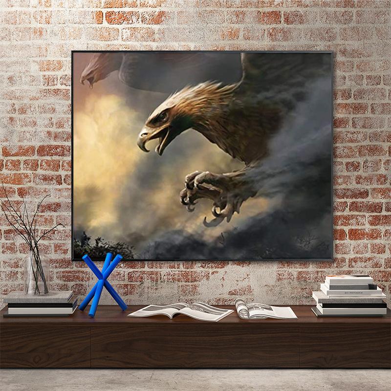 品都 傲然的雄鹰diy数字油画手绘填色家居客厅卧室酒店装饰画挂画