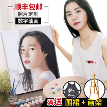 人物头肖像风景定制家居饰品送礼包邮手绘艺术抽象欧式画装饰画
