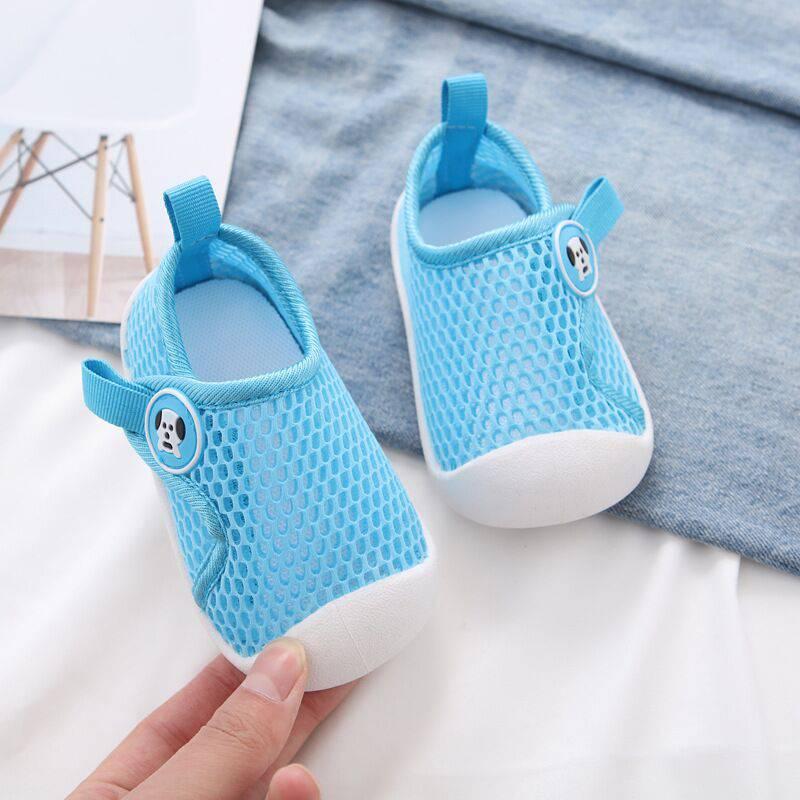 。春夏款女宝宝学走路鞋子男1一3岁透气网鞋镂空单网学步软底婴儿