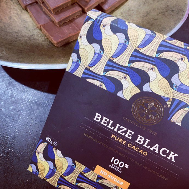英国巧克力树 100% 伯利兹山地可可 无糖 2021.9.25