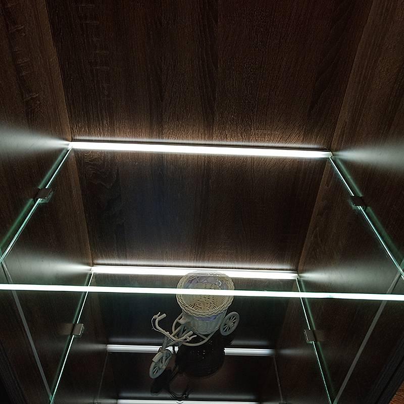 。玻璃层板灯8mm厚隔板灯酒柜衣柜橱柜内10厘12厘夹板灯条可定