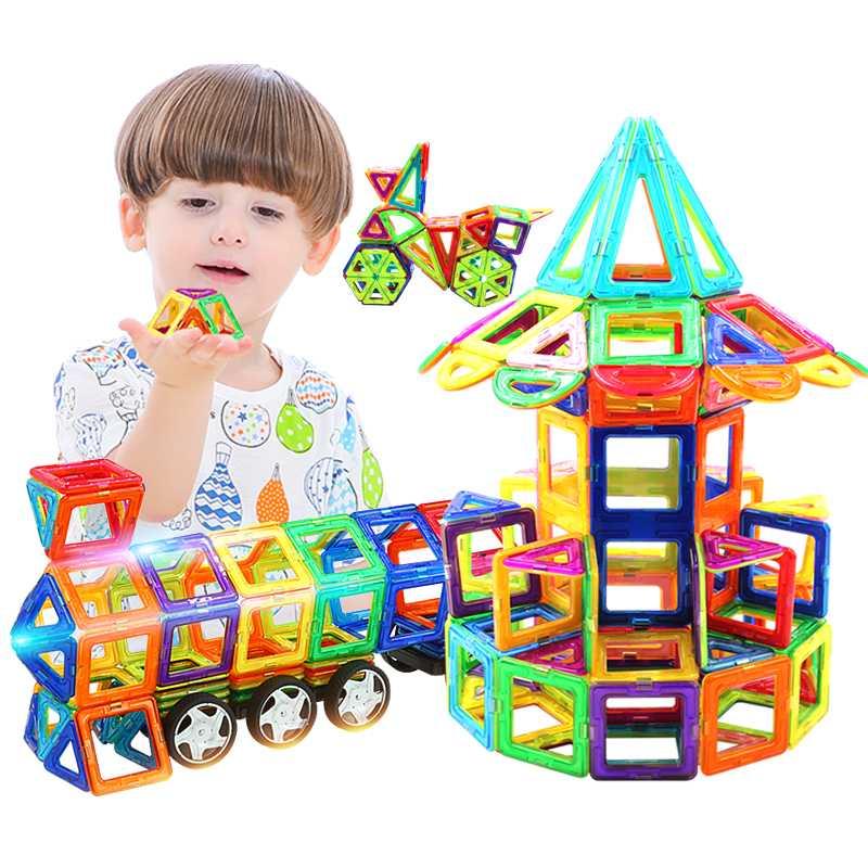 好莱木磁力片积木儿童玩具磁铁磁性1-2-3-6-8-10周岁男孩女孩益智限时秒杀