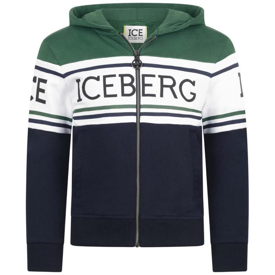 2019新款男童洋气秋装棉长袖带帽卫衣上衣外套ICE ICEBERG儿童装