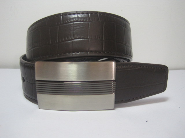 2020 new export tail goods mens leather belt leather 3.5cm Wide Brown for both sides