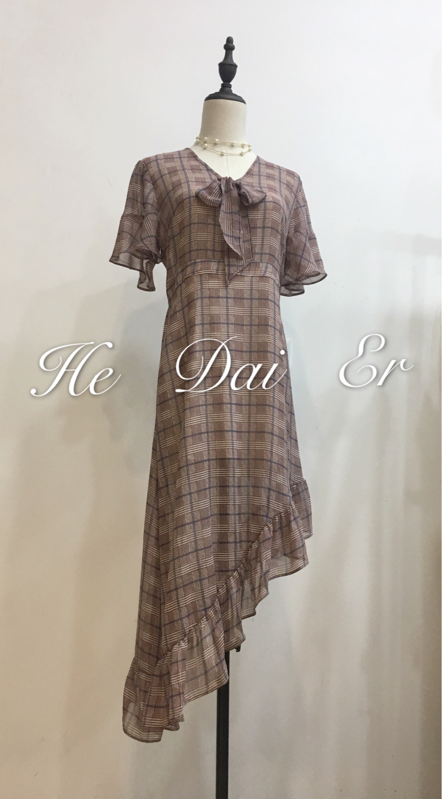 Designer chiffon dress with waist down and belly covering for childrens summer dress