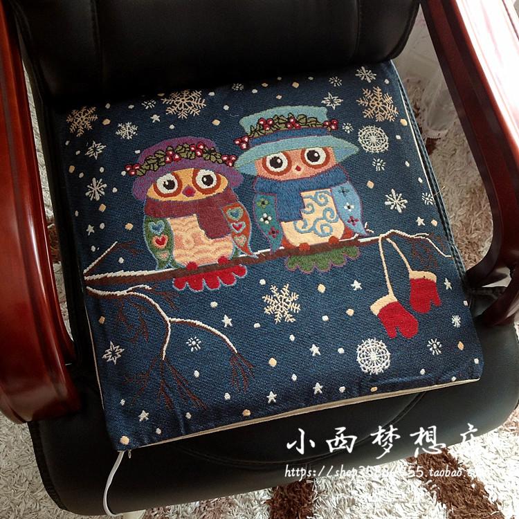 电热垫坐垫插电式办公室加热坐垫可拆洗电加热垫 加热小垫电暖垫