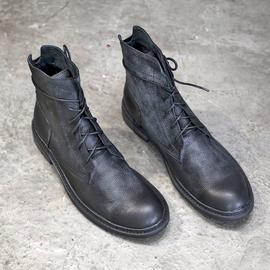 马丁靴男高帮2019冬季加绒保暖皮靴男英伦风机车靴真皮工装靴男靴图片