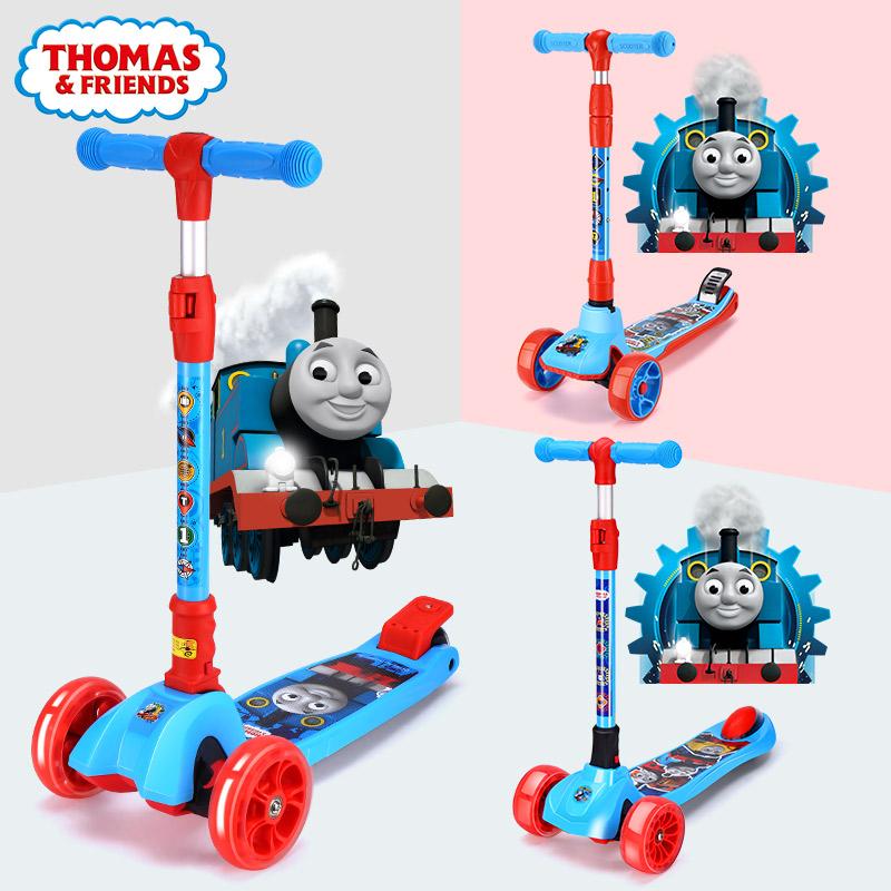包邮1托马斯3-12岁6四轮宽轮5滑板车