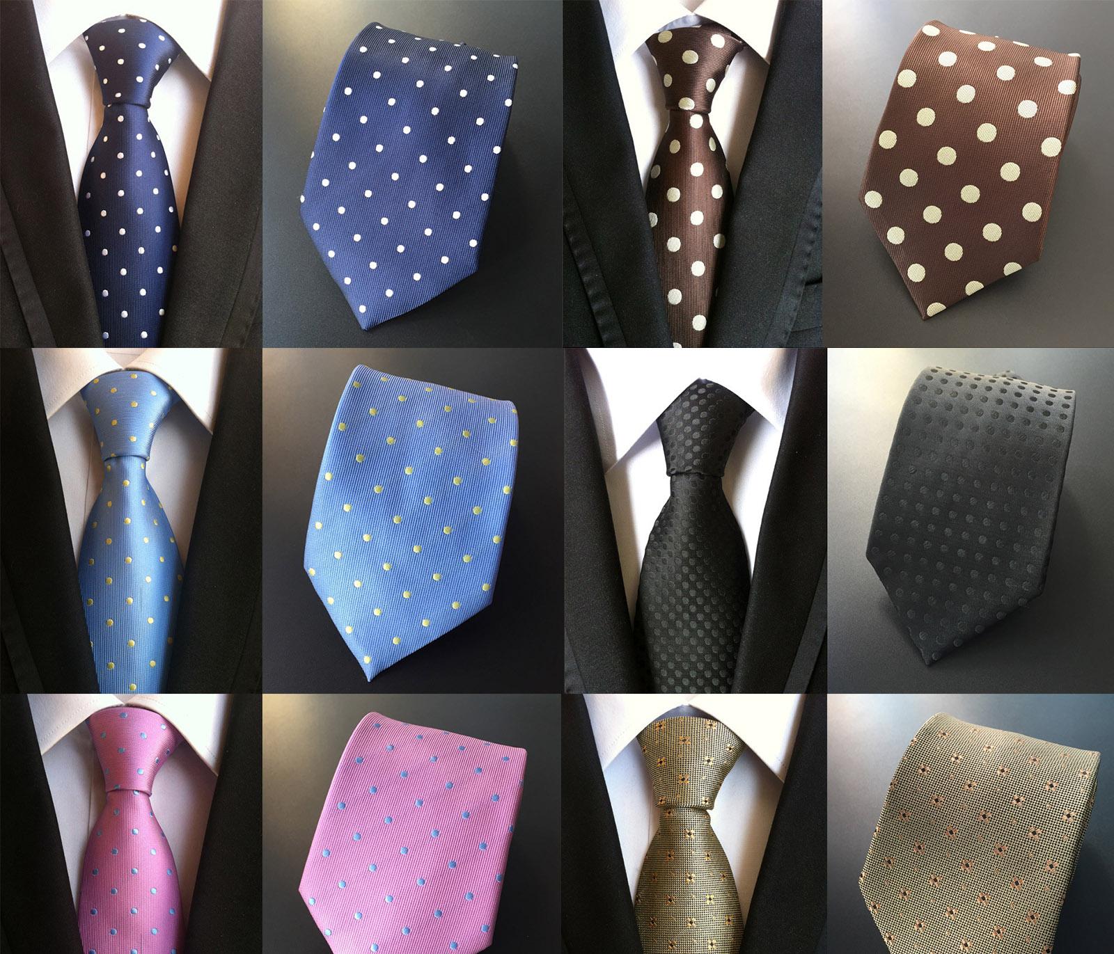 Tie mens formal dress wave point regular business dot tie suit professional Tie Red Coffee blue black