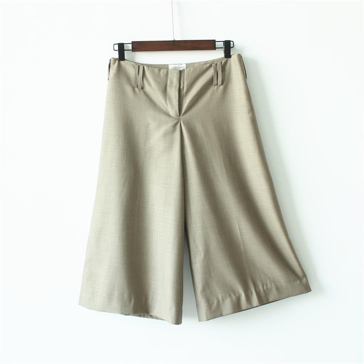 妞妞家 春季新品女装好品质休闲阔腿裙裤八分裤2012