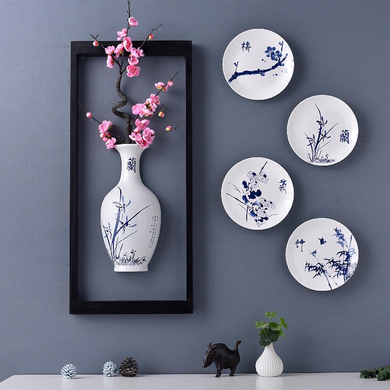 墙面装饰品创意客厅餐厅壁挂件新中式家居玄关背景墙上挂饰软装饰