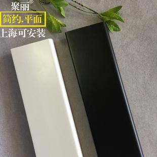 白色烤漆平板 墙角线 实木踢脚线 纯实木瓷白 聚丽 混油白地脚线