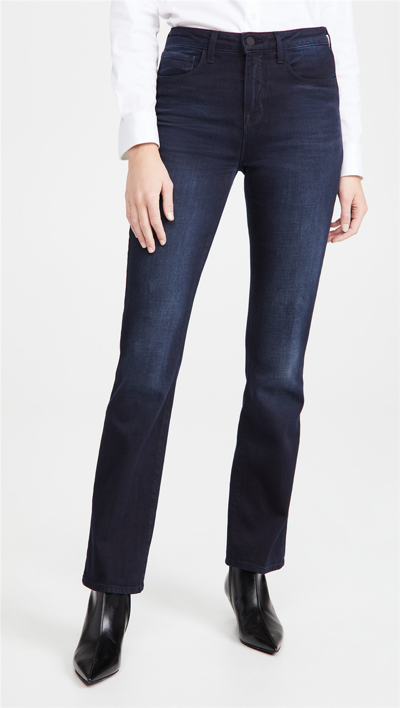 Lage American womens pants fashion cotton stretch SLIM STRAIGHT JEANS versatile casual pants