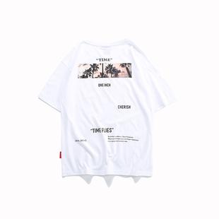 嘻哈短袖男國潮半袖2020新款短tee潮牌T恤寬鬆潮流情侶裝ins超火