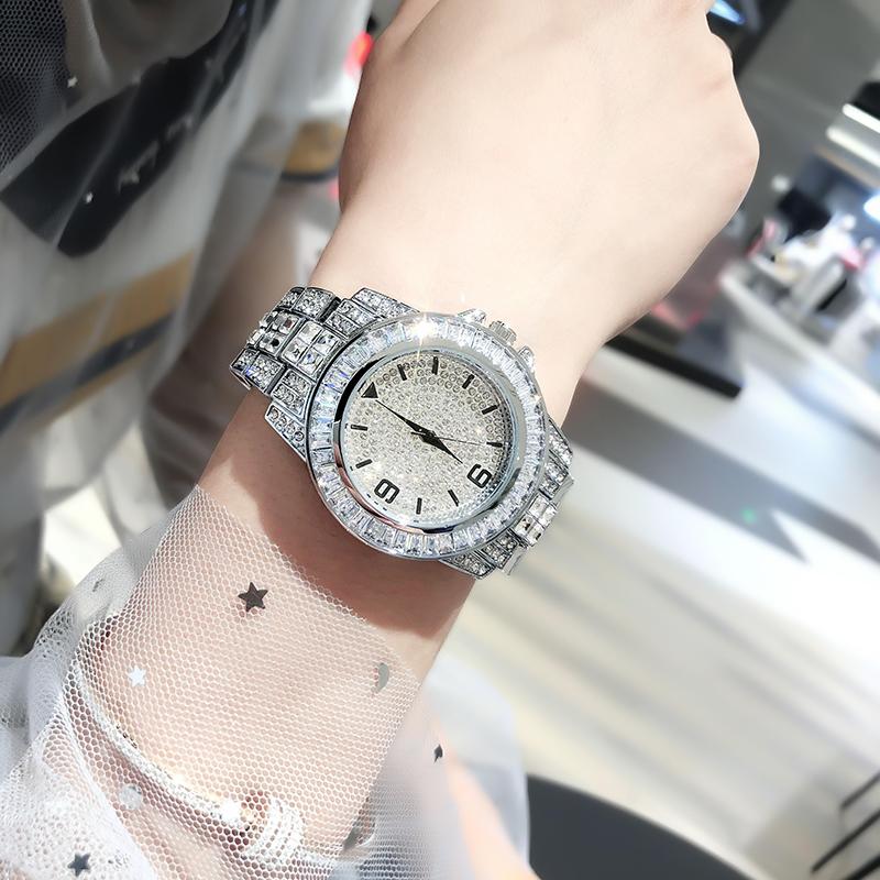 法国小众满天星镶钻手表女士防水大气仙女时尚女表2019流行款潮流