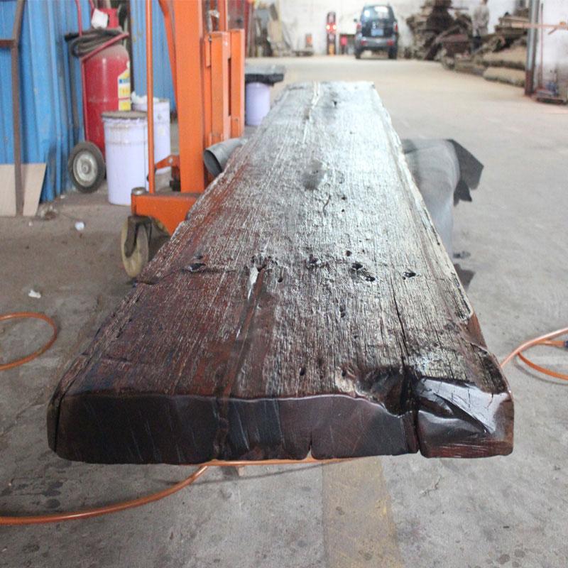 老旧船木板材风化原木材料老船木背景墙装饰板古船木牌匾实木台面