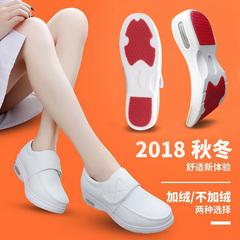 Cushion y tá nữ giày 2019 mùa thu và mùa đông mới của Hàn Quốc dốc với phi trượt trắng thoải mái giày làm việc phẳng mềm đế
