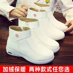 Cushion nữ y tá giày khử mùi thở mùa đông trắng mềm đáy chống trượt giày độn cộng với nhung Dongkuan khởi động dễ thương mùa đông